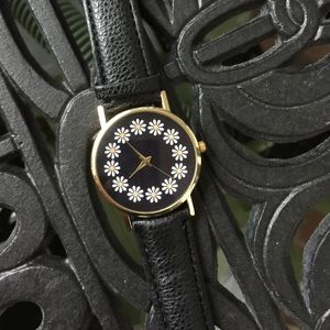 Whimsical Watches Accessories - Daisy Watch Black Band