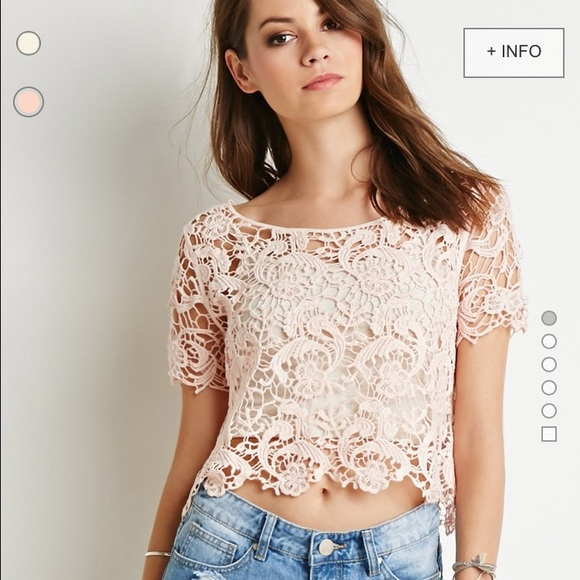 41 off forever 21 tops see through pink lace shirt from shira 39 s closet on poshmark. Black Bedroom Furniture Sets. Home Design Ideas