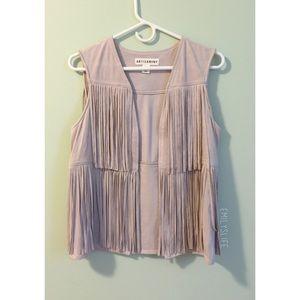 Artisan NY Jackets & Blazers - Artisan NY Suede Fringe Vest