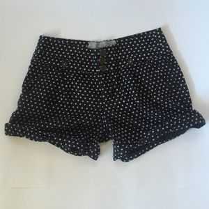 Anthropologie blue polka dot shorts