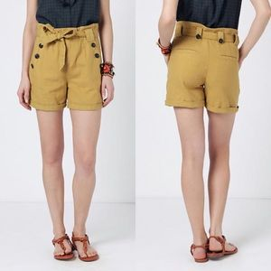 Anthropologie high waisted yellow shorts