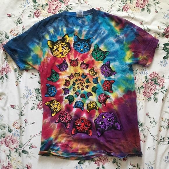 ca99678a Fruit of the Loom Shirts | Tie Dye Cat Shirt | Poshmark