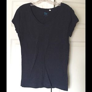 SO Tops - SO Juniors T-shirt, Dark Blue, Size Extra Large