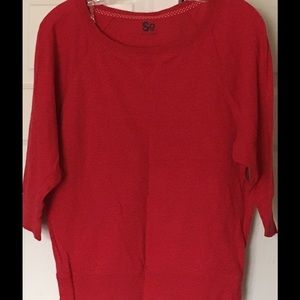 SO Tops - Kohls SO Elbow-length sleeve red top Juniors Large