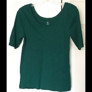 Gap Tops - Gap Supersoft Tee Size Large Forest Hunter Green