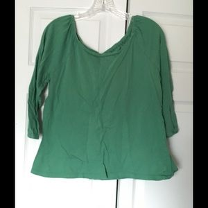 Gap Tops - Gap 3/4 Sleeve tee.  Size Large Soft green