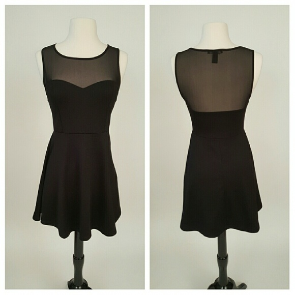 Forever 21 Dresses & Skirts - HP!!!🎶🎶🎶Forever 21 Black Skater Dress🎶🎶🎶