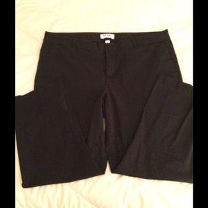 Old Navy Black Twill Pants