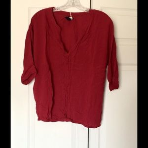 Gap Tops - Gap Tunic Cranberry Red, Great Condition Large
