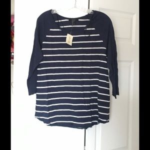 Forever 21 Tops - Brand New Forever 21 Striped Shirt Size Large