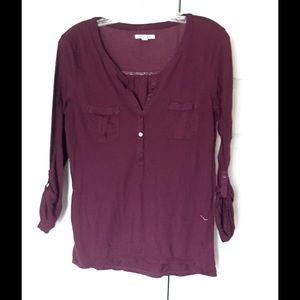 American Eagle Outfitters Tops - American Eagle 3/4 sleeve tunic Purple Size Med