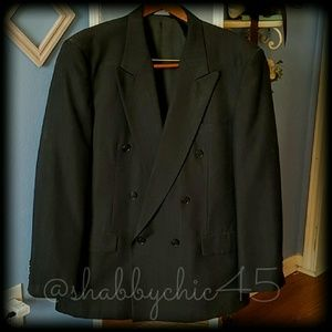 Mens Double Breasted Suit Coat