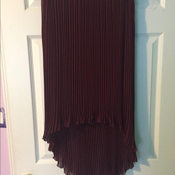 burgundy high low skirt m from shira s closet on poshmark