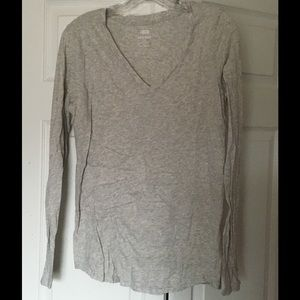Old Navy Tops - Old Navy Relaxed V Neck Tee Long Sleeves Large