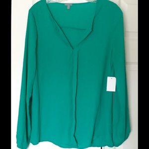 Charlotte Russe Tops - Charlotte Russe Green Tunic Long Sleeves Medium