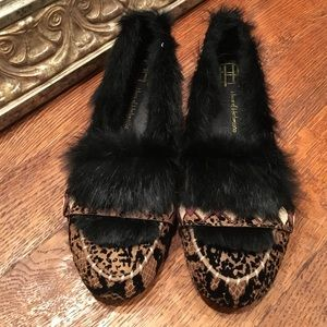 House of Harlow Animal Macey Fur Lined Moccasins