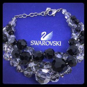 SWAROVSKI Maniac Clear and Black Crystal Bracelet