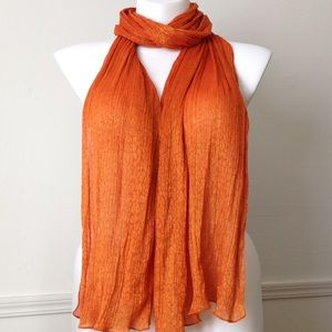 Echo Accessories - Orange and gold shimmer scarf by Echo