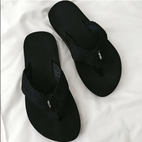 63 Off Teva Shoes - Black Teva Mush Flip Flops From -9662