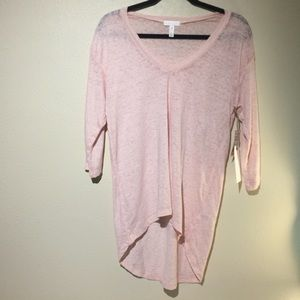 Leith pale pink shirt