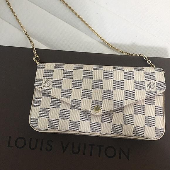 Louis Vuitton Handbags - Louis Vuitton Pochette Felicie in Damier Azur 74670d1ab7976