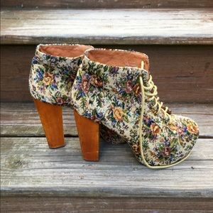 Authentic Jeffrey Campbell Litas Fab Floral Boots