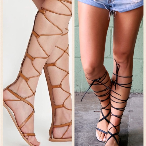 2f2c5942afe NWT never worn knee high gladiator sandal lace up