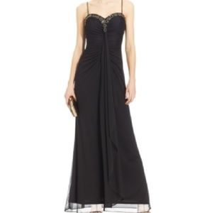 Onyx Dresses & Skirts - PROM GOWN Jewel-Trim Ruched NWT $119 2