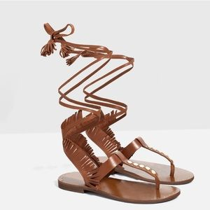 Roman style flat leather  sandals