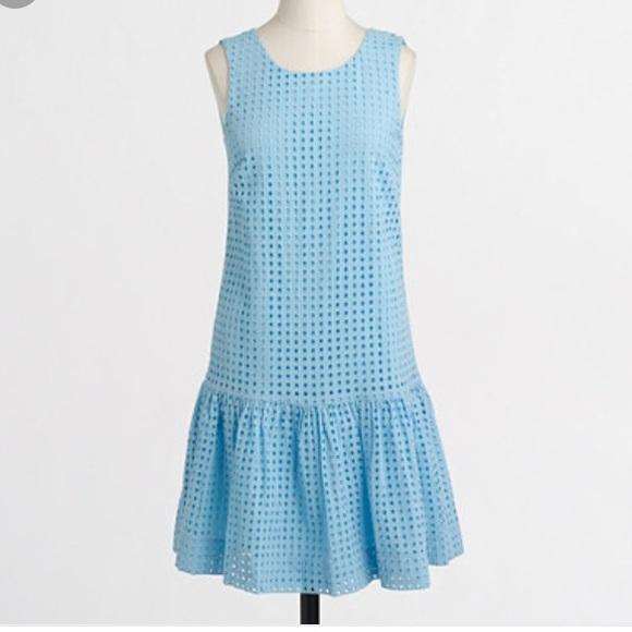 8701bbac172 J. Crew Factory Dresses   Skirts - J crew factory eyelet flounce dress
