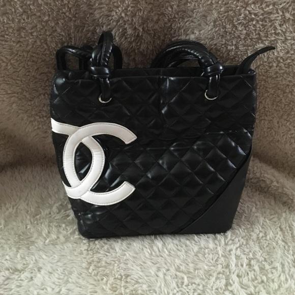 fc8379a4cfa1 Chanel Handbags - Coco Chanel black leather purse