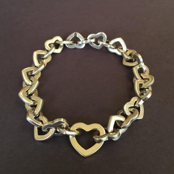 1635b4538 Tiffany & Co. Heart Link Bracelet Silver/18k Gold.  M_57a219159c6fcfa39b004ff8