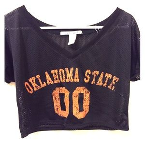 Tops - OSU netted jersey crop top