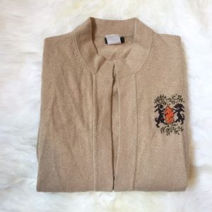 J. Crew Sweaters - J.Crew Camel Color Marino Wool Collegiate Cardigan