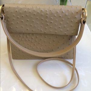 Charles Jourdan Handbags - Sale🌺Ostrich leather Crossbody bag-