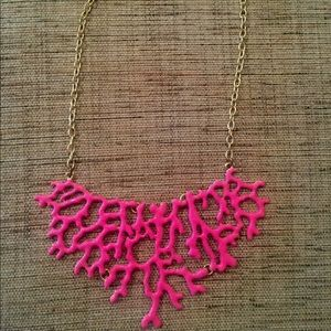 Coral design statement necklace