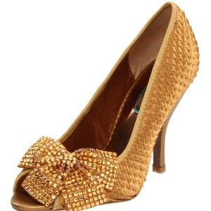 36% off Poetic Licence Shoes - Poetic license dark gold heels w ...