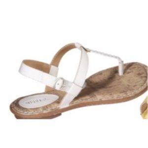 Nwot white merona sandals