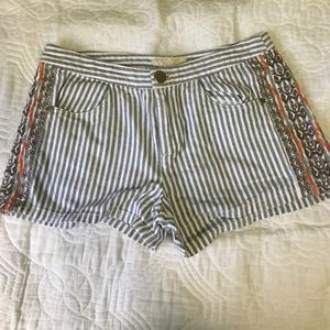 Altar'd State Pants - Tribal Print and Stripes Shorts