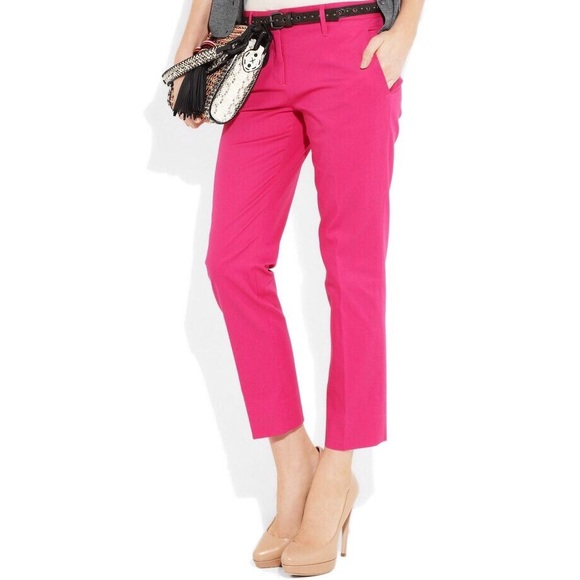 b7e5df26 Zara Pants | Cropped Bright Pink Trousers Sz M Nwt | Poshmark