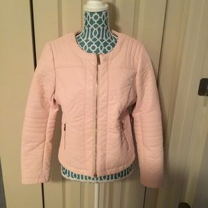 Vince Camuto gorgeous pink leather Moto jacket!