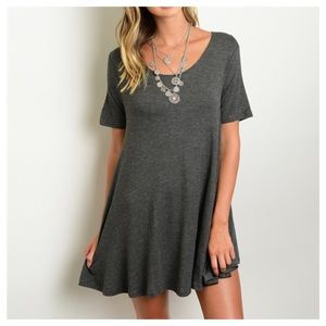 Beach Wave Tops - Charcoal A Line Tunic Top
