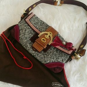 SALE Authentic Coach Soho Tweed Leather Bag