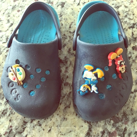 CROCS Other - Gently worn crocs with three jibbits!