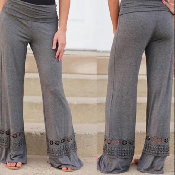 Crochet Pattern Yoga Pants : mikesdumplin - GRAY YOGA PANTS WITH CROCHET INSET ??sale ...