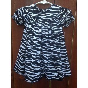 NOLA Smocked Other - Zebra bishop dress