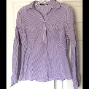 Forever 21 Tops - Forever 21 Purple Striped Button Down Shirt Large
