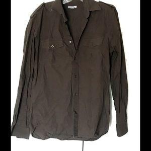 H&M Tops - H&M Button Down Brown Shirt Size Medium Collared