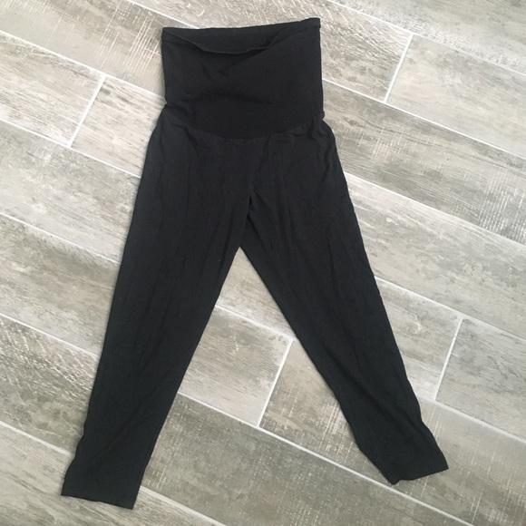 93e010546110e A Pea in the Pod Pants - A pea in the pod black maternity leggings
