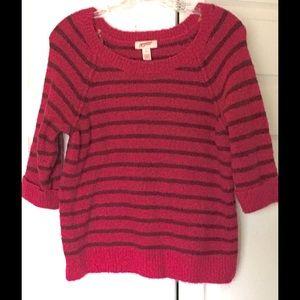 Arizona Jean Company Sweaters - Juniors Arizona Striped Sweater Size XL